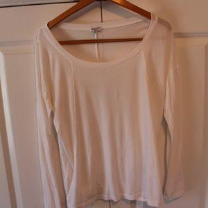 Splendid White Long Sleeve Tee Shirt